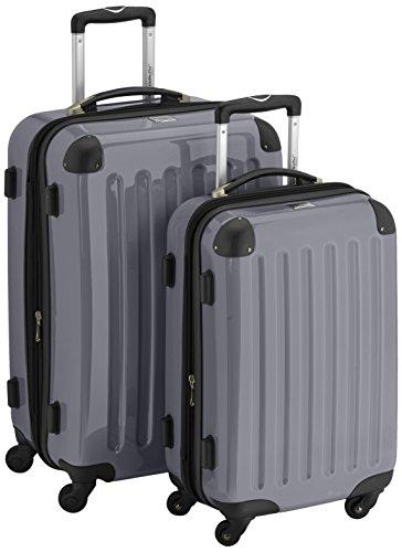 HAUPTSTADTKOFFER - Alex - 2er Koffer-Set Hartschale glänzend, 65 cm + 55 cm, 74 Liter + 42 Liter, Silber
