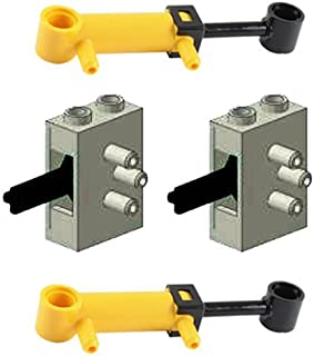 LEGO 4 pcs Technic NEW PNEUMATIC LOT of 2 Mini Piston 32mm Cylinders AND 2 Old Grey Air Valve Switch
