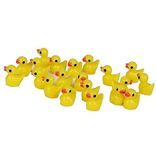 Ardest Slime Charms Duck Hard Resin Slime Beads Little Duckies for Crafts,Handmade School Project,Dollhouse Miniature, Home Decor Christmas Gift(50 Pcs)