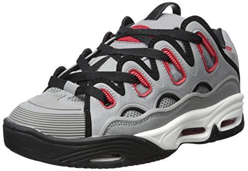 Osiris Men's D3 2001 Skate Shoe, Grey/red/Black, 5.5 M US