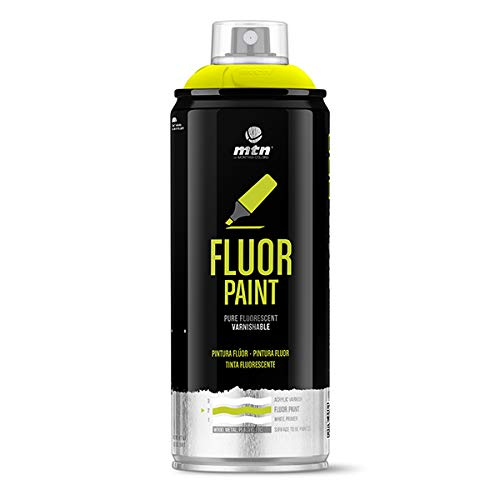 Montana Colors MTN PRO Pintura Flúor Amarillo - Spray de Pintura, Flúor Amarillo