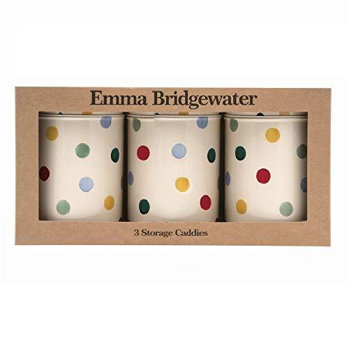 Emma Bridgewater - Polka Dot Floral set 3 caddies D10.6x15cm