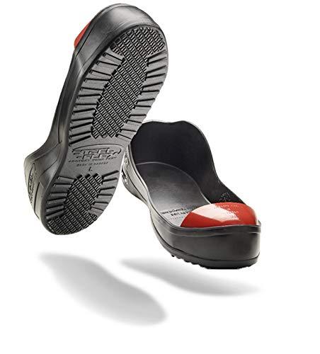 Steel-Flex Steel Toe Cap Safety Overshoes (Small (W 8-9, M 6-7), Black)