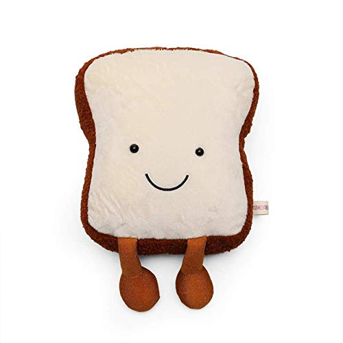 Muvccn Cute Smiling Face Toast Bread Plush Doll Pillow, Super Soft Plush Toy, Home Decoration, Pillow, Sleep Companion
