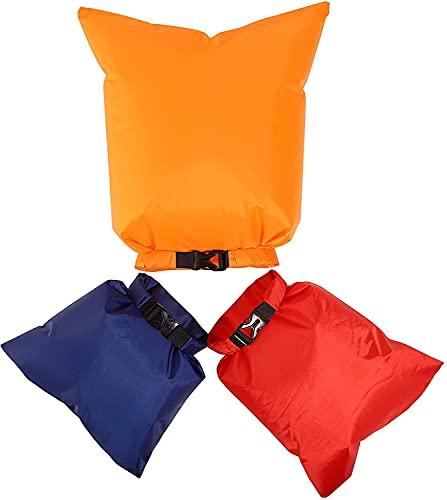 Freenfitmall Set de bolsa seca impermeable, bolsas ligeras de canoa Drybag,Sacos secos bolsas impermeables sacos,Sacos secos para barco de natación, Red, 5pcs/set,