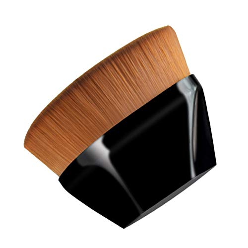 Pinceau de maquillage en forme de pétale, pinceau de maquillage de base avec étui de protection, adapté aux cosmétiques mixtes liquides, crèmes ou en poudre, pinceau de maquillage multifonctionnel