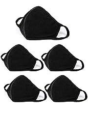 5 Pcs Unisex Black Dust Cotton, Washable, Reusable Cotton Fabric