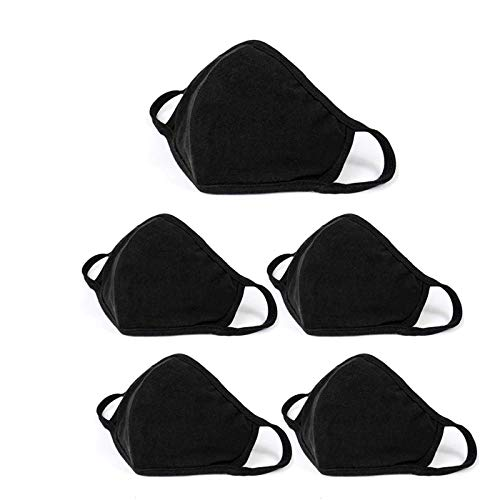 5 Pack Unisex Face Covering Cotton Washable and Reusable Cloth for Men and Women