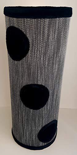 """Lemio - \""""Big Tub Kratztonne - Katzentonne 100 cm hoch - Katzenbaum Katzenkratzbaum Möbel für Katzen (schwarz)"""