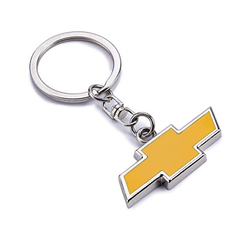 ACGOING Metal Keychain Keyrings - Metal Keychain Keyrings - 3D Chrome Premium Metal Key Chains Key Rings Wtih Car Logo Best for Gifts (Chevrolet)