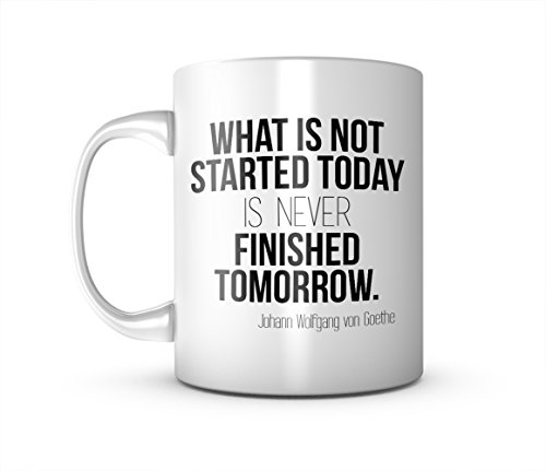 Motivation Johann Wolfgang von Goethe Zitat Keramik Tasse Kaffee Tee Becher Mug