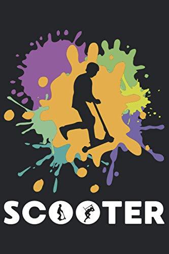 Scooter: Notizbuch für Tretroller, Elektroroller, Rollerfahrer | Geschenkidee als Planer Tagebuch Organizer | 6x9 Zoll (ca. DIN A5) 120 Linierte Seiten, Softcover mit Matt.