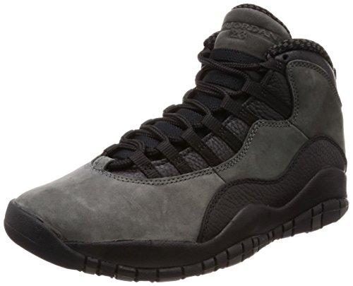 Nike Herren Air Jordan 10 Retro Dunkelgrau Leder/Synthetik/Textil Sneaker 41
