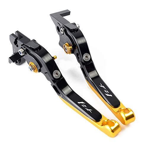 Motorcycle Brake Clutch Levers For YAM-AH-A FZ1 Fazer 2006-2010 2011 2012 2013 2014 2015 Motorcycle Adjustable Folding Extendable Brake Clutch Lever (Color : 4)