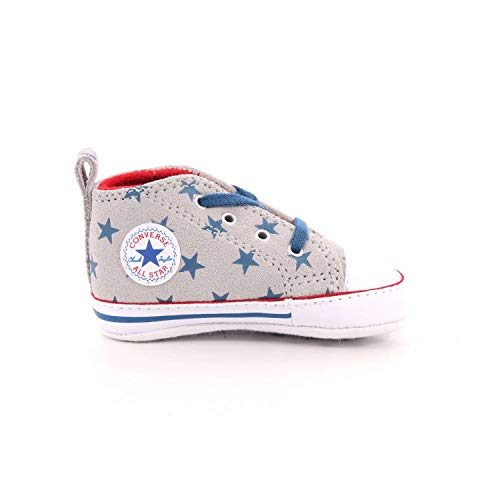 Converse Chuck Taylor Ctas First Star Hi, Pantofole Bimbo, Multicolore (Ash Grey/Court Blue/White 095), 18 EU