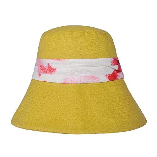 Cappello da donna alla moda a tesa larga secchiello