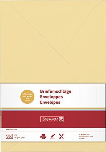 Brunnen 105125414 Briefumschlag Universalpapier, C5, 10 Stück, honig