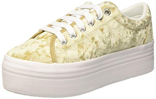 Jeffrey Campbell - Jcpzomgvelvet - Sneakers basses - Femme - Oro (Velvet Gold/White/Sole) - 41