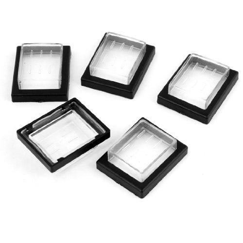 Sourcingmap a13112200ux0221-5 piezas rectángulo de plástico interruptor anti-polvo impermeable cubre protectores