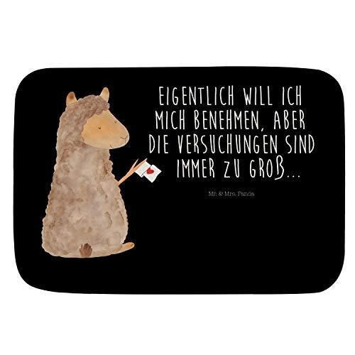 Mr. & Mrs. Panda Badvorleger Alpaka Fahne - Alpaka, Lama, Pako, Kamel, Peru, Tier, Lieblingstier Badvorleger, Badematte, Badteppich, Duschvorleger, rutschfest