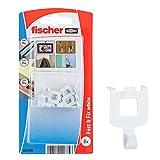 Fischer Fast&Fix Fissa, Gancio a Paretper Appendere Quadri, Installazione Rapida, Non servono cacciavite e Trapano, 8 pz per Confezione, 532760, Bianco