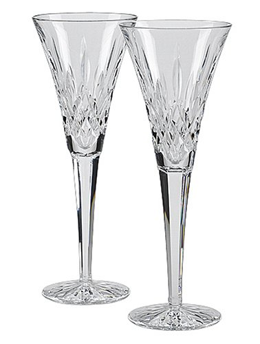 Waterford Lismore Toasting Flutes, Set of 2