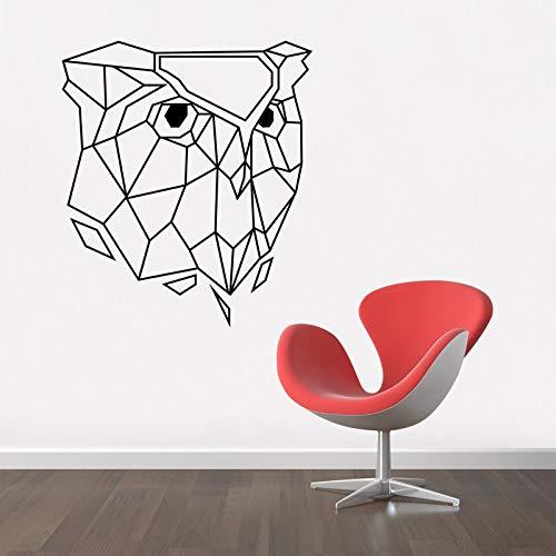 guijiumai Schwarze geometrische Eule kreative Wand Dekor Aufkleber für Baby Kinderzimmer Vinyl Wall Decal Schlafzimmer Wohnzimmer abnehmbare Tapete42X48CM