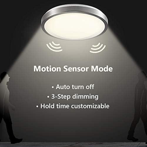 CORSO 16Inch LED Motion Sensor Light 23W 1200LM with Motion Detector Daylight Sensor Round Flush product image
