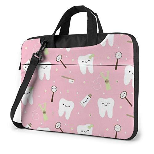Roze Tandpasta Tandpasta Laptop Sleeve Case 15.6 Inch Computer Tote Bag Schouder Messenger Aktetas