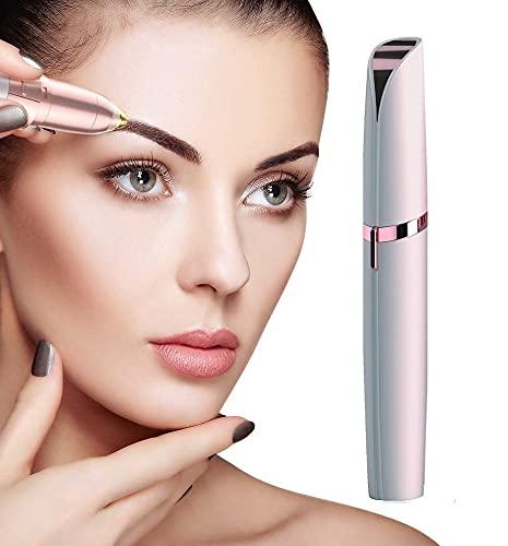 KTU Eyebrow shaper for women eye, eyebrow trimmer for women, facial hair trimmer for women face, hair remover machine, ibrow trimmer, painless eyebrow trimmer, threading machine for women (Rose Gold)