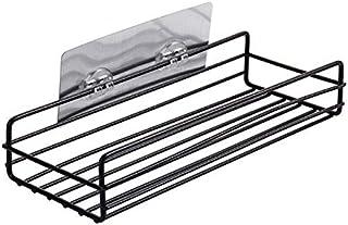 包丁立て キッチン収納ラック浴室のシャワーシャンプー石鹸シェルフウォールは、ストレージバスケットオーガナイザーをマウント用品 WXJJP (Color : ブラック, Size : 27.5 x 11 x 5.5)