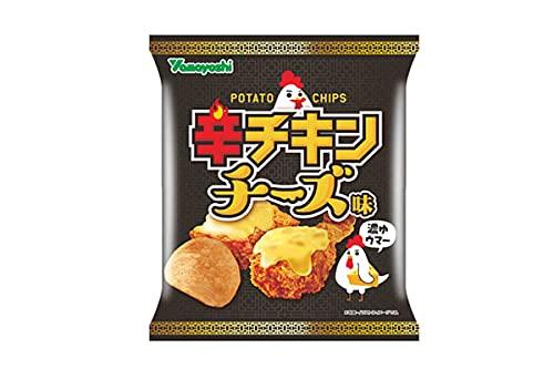 山芳 ポテトチップス『辛チキンチーズ味』X1箱(12袋)
