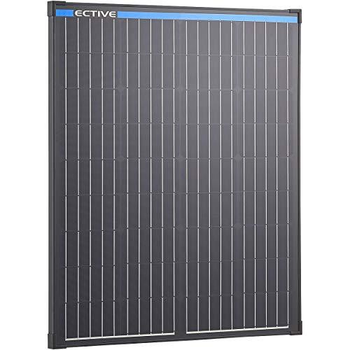ECTIVE 12V 100W Monokristallines Solarmodul Black Edition mit 36 Zellen Solarpanel mit Sicherheitsglasplatte MSP100 Black in 13 Varianten 50-190 Watt