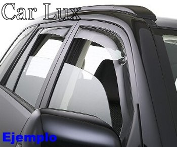 Car Lux AR04325 - Derivabrisas Deflectores de Aire Cortavientos de Ventanilla para el 207