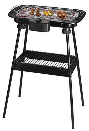 Team Kalorik Gril Barbecue, Barbecue de Table et sur Pied Electrique, Surface du Gril : 38 x 22 cm, 2300 W, Noir, TKG GRB 1002