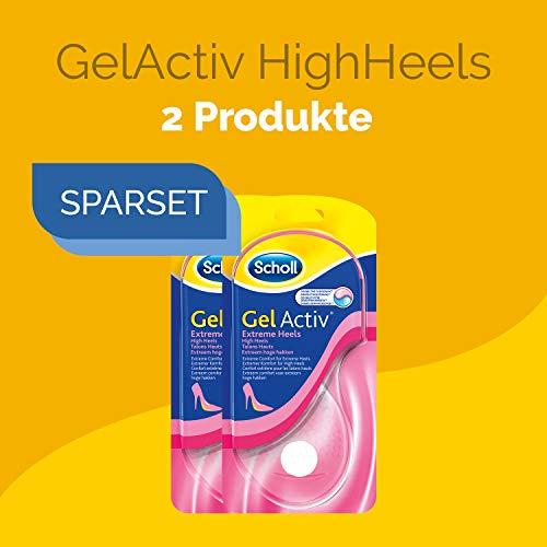 Einlegesohlen Damen 2 Paar für High Heels und Schuhe mit Absätzen über 5,5 cm in Schuhgröße 35-40,5 Scholl GelActiv Heels