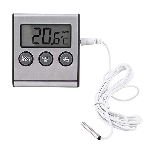 Digital Kühlschrank Thermometer LCD Alarm Kühlschrank Temperaturmonitor Mini batteriebetriebenes Tiefkühlgerät Raumthermometer mit max