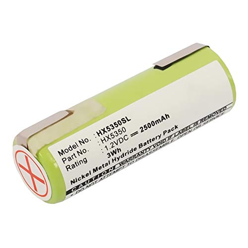 subtel® Batería Premium Compatible con Braun Oral B/Series 3 / Series 5 / Series 7 (Ø17mm), 2500mAh Pila Repuesto bateria