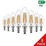 iGOKU Lot de 8 ampoules LED E14, 6 W (équivalent 60 W) à économie d'énergie,...