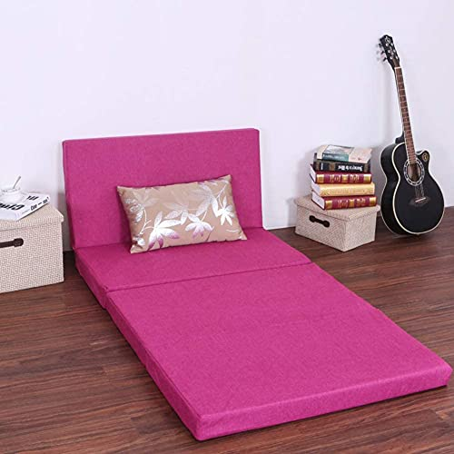 YCQ Sofá Cama Suave y Grueso,colchón Plegable de Espuma de Tres Pliegues,colchoneta de futón Antideslizante portátil para huéspedes,colchoneta de Tatami Transpirable para Dormir