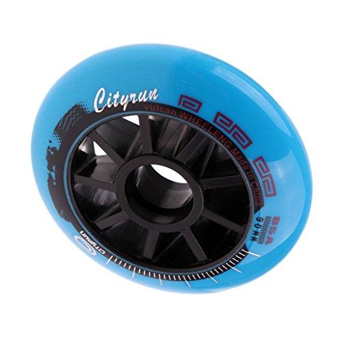 MagiDeal Outdoor Inliner Ersatzräder Inline-Skates Rollen 90 mm / 100 mm / 110 mm - Blau, 90 mm