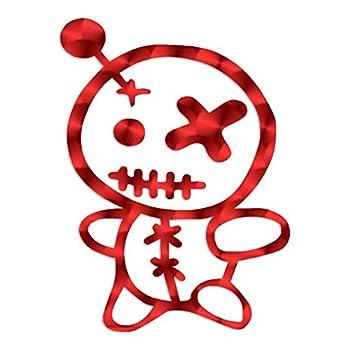 Voodoo Doll Cute - Vinyl Decal Sticker - 5.75  x 7.75  - Red Engine Turn