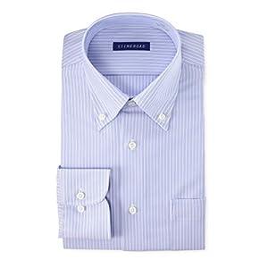 [スティングロード] ワイシャツ パーフェクトノーアイロン 長袖 ボタンダウン ニットシャツ 超形態安定 ストレッチ レギュラーフィット ST04004 メンズ C/#6ブルー 首回り41cm裄丈82cm