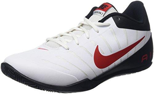 Nike, Scarpe da Basket Donna Multicolore Bianco/Rosso 10.5