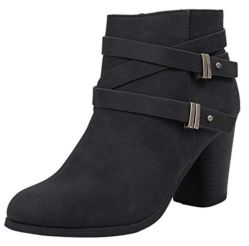 Soda Women's Undine Pointy Toe Ankle Bootie Shoes,Black,6.5