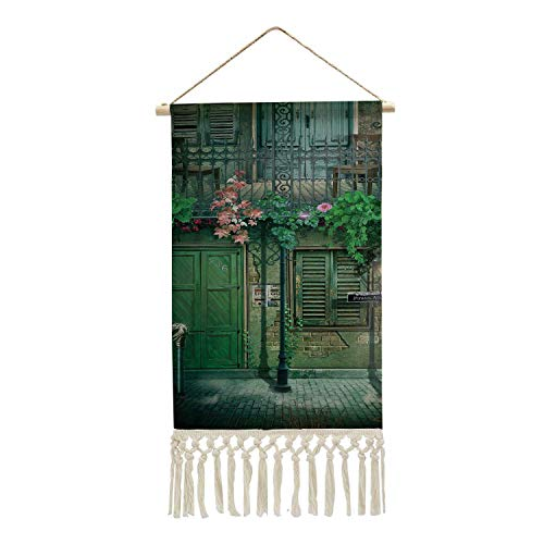 C COABALLA New Orleans Historic Graphic Artwork Design France,P Frame Wooden Print Hanging History for Walls Map Cotton Artwork 10''x14.9'' (WxH)