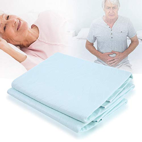 2Pcs Incontinence Bed Pad, Washable Reusable Underpad Waterproof Breathable Mattress Protector Absorbing Sheets Urine Elder Mat Non-Slip Sleeping Mat Bed Protector 80 × 90cm