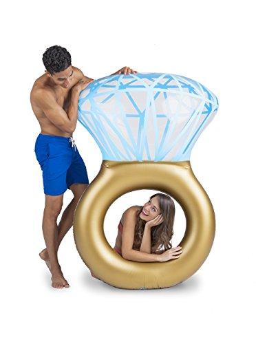 BigMouth Inc – Flotador Hinchable Bling Ring Anillo Gigante – Inflable Colchoneta...
