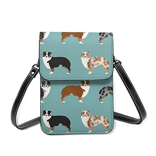 best& Australian Shepherds Dogs Cell Phone Bag - Bolsa para teléfono móvil con correa para el hombro