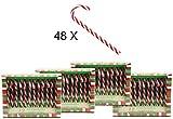 Bada Bing Candy Canes Lollie - Bastón de caramelo (48 unidades)